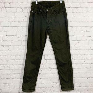 Eileen Fisher Green Crop Skinny Jean Pant